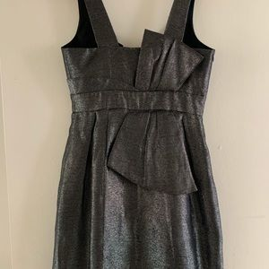 Aqua metallic cocktail dress